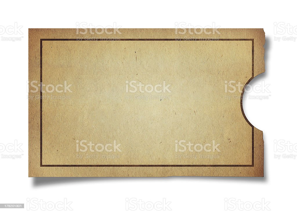 Mini Ticket (Clipping Path ) stock photo
