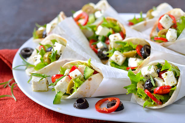 Mini tortillas with feta cheese – Foto