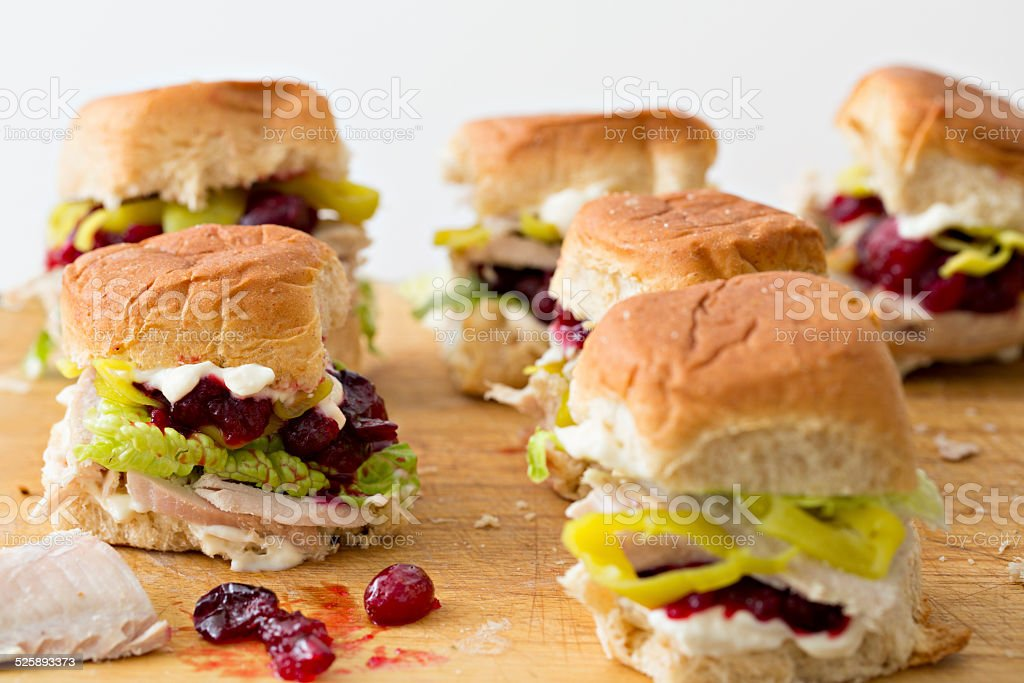 Mini Turkey Sandwiches stock photo