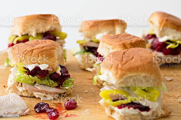 Mini Turquía Sándwiches Foto de stock y más banco de imágenes de Alimento