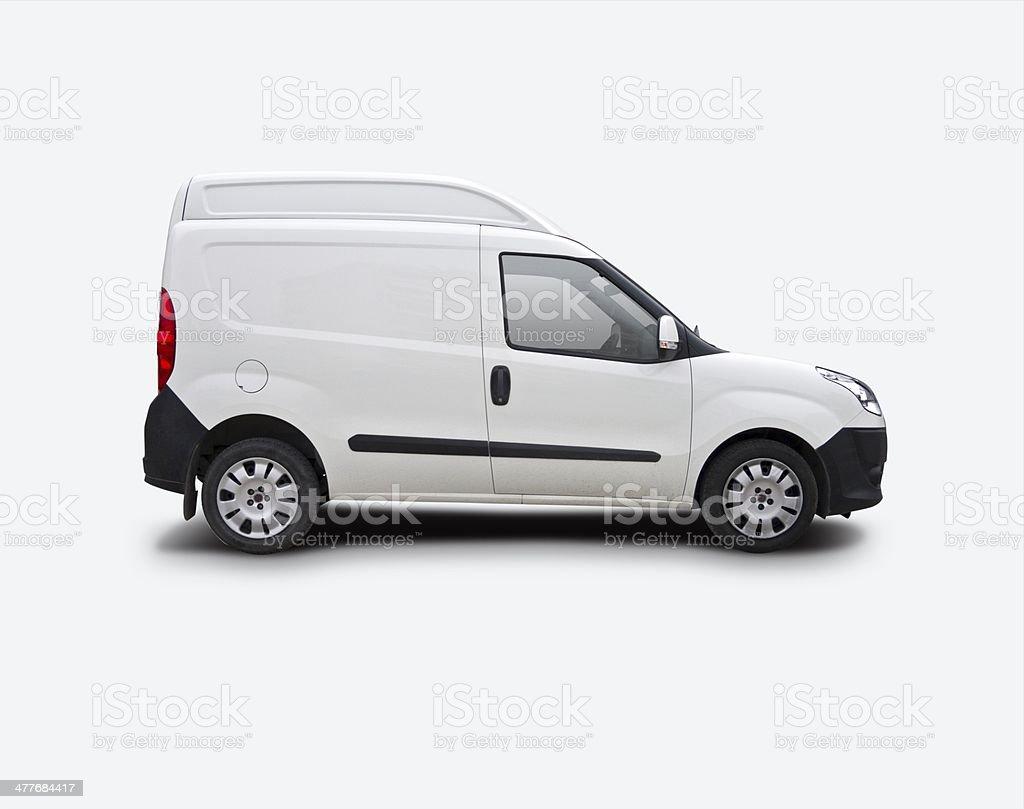 Mini van Ready For Branding stock photo