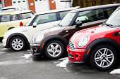 Mini Vehicles in a Row