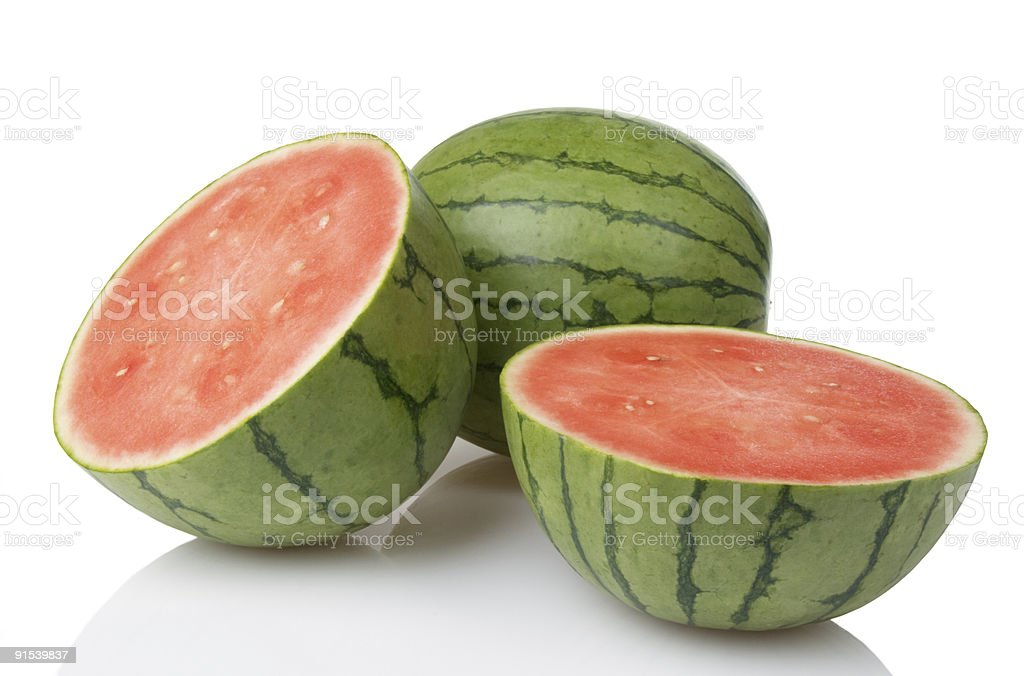 Mini Watermelons With One Cut In Half royalty-free stock photo
