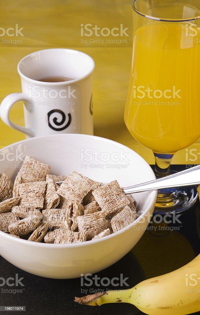 mini wheat breakfast royalty-free stock photo