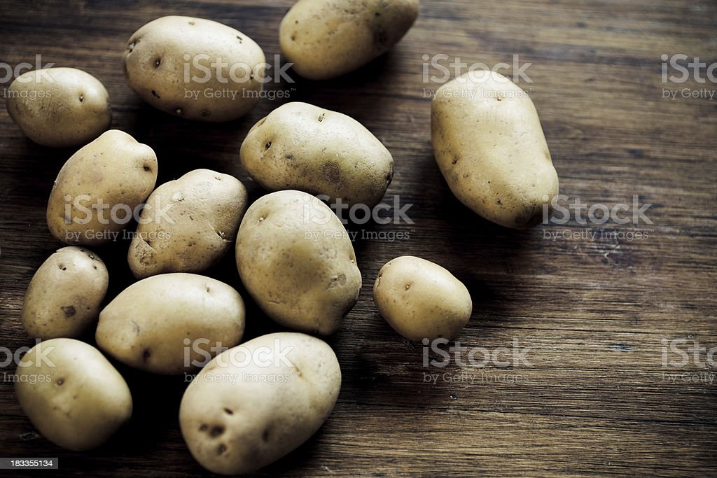 Mini Yellow Potatoes royalty-free stock photo