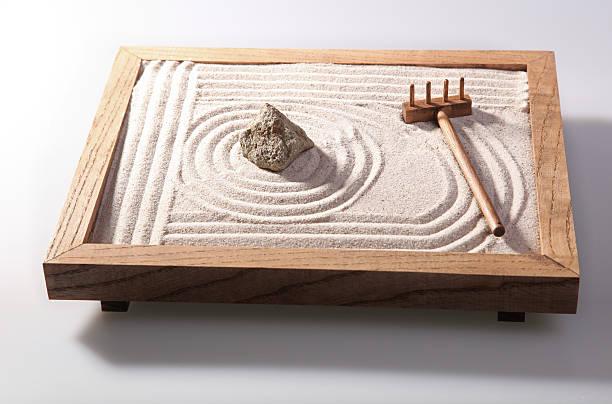 Mini zen garden stock photo