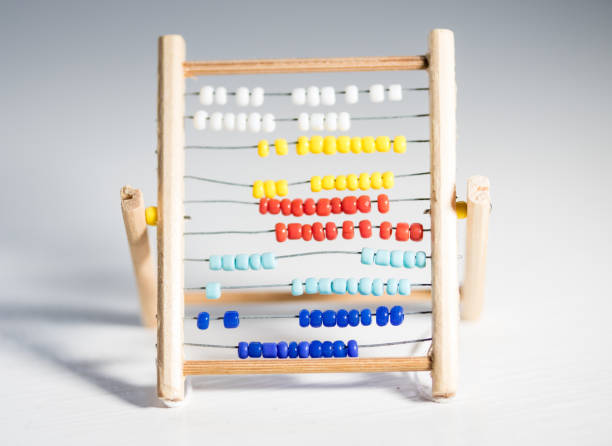 Miniature Abacus stock photo