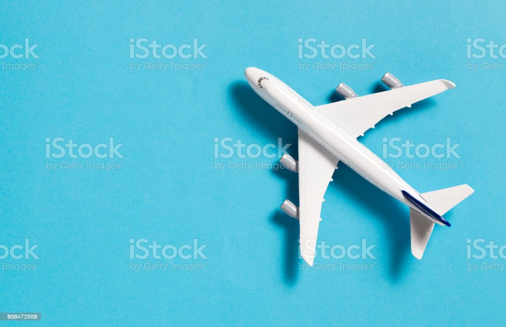 Miniature airplane isolated stock photo