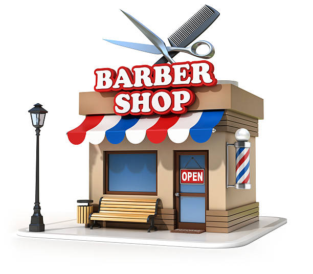 royalty free cartoon of a barbershop artwork pictures images and