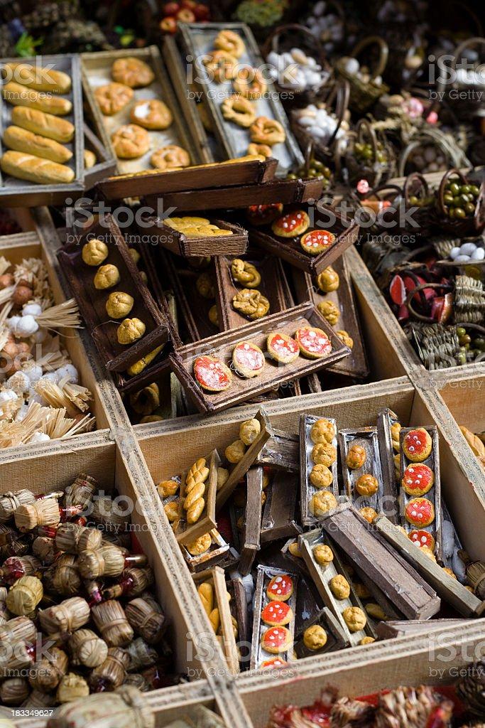Miniature Baskets for Neapolitan 'Presepe' (Crib) royalty-free stock photo