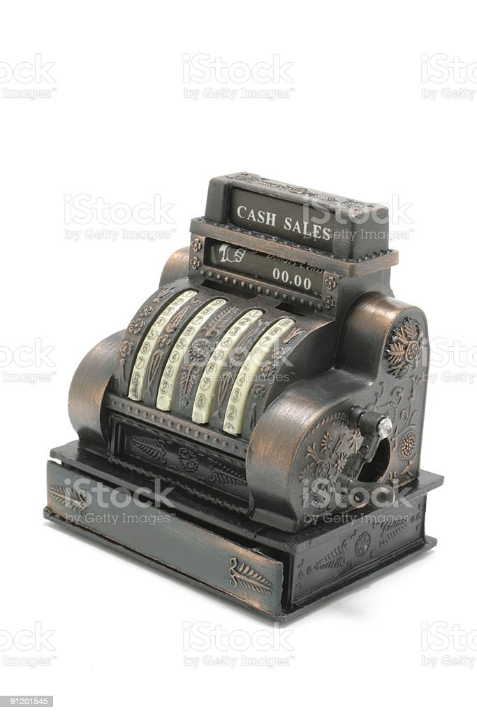 Miniature Cash Register royalty-free stock photo
