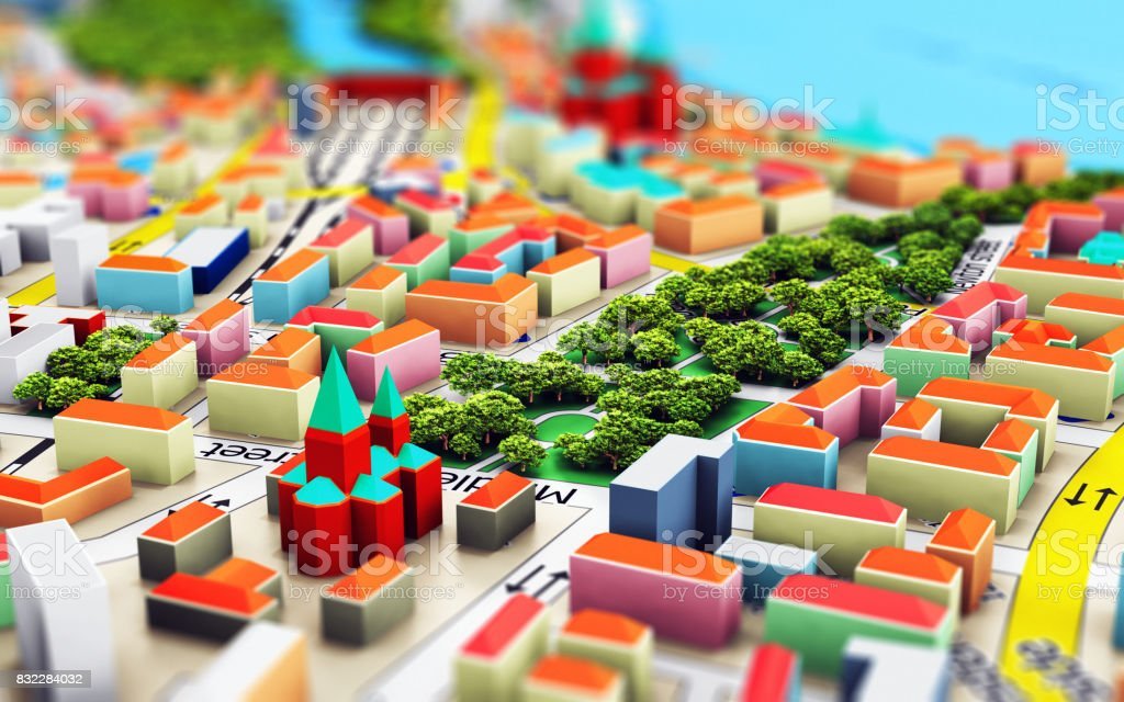 Miniatur city Lizenzfreies stock-foto