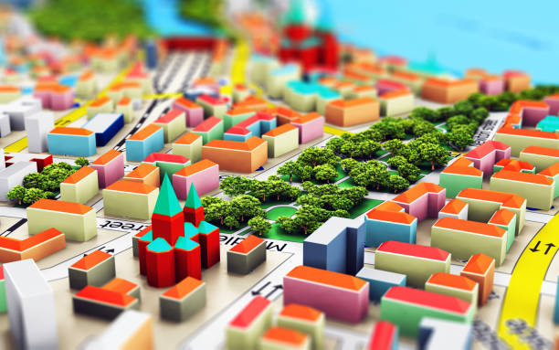 Miniature city stock photo