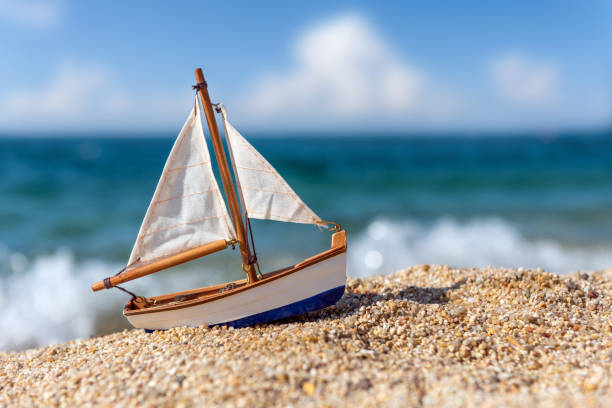 Background Of Plastic Toy Sailboats Stock Photos, Pictures
