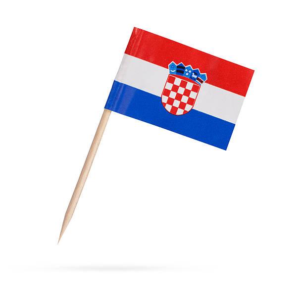 Bandera miniatura de Croacia. Bandera de croacia aislado sobre fondo blanco - foto de stock