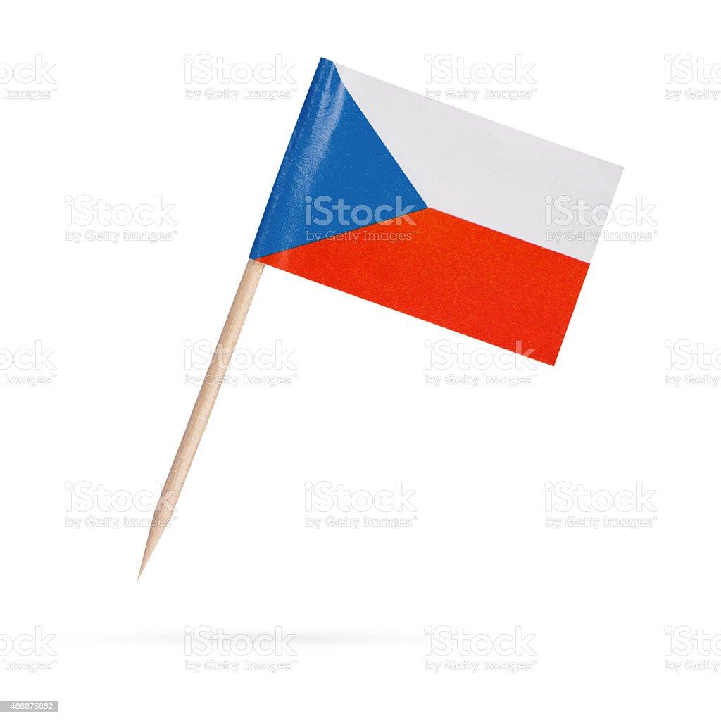 Bandera miniatura Czechia. Aislado sobre fondo blanco - foto de stock