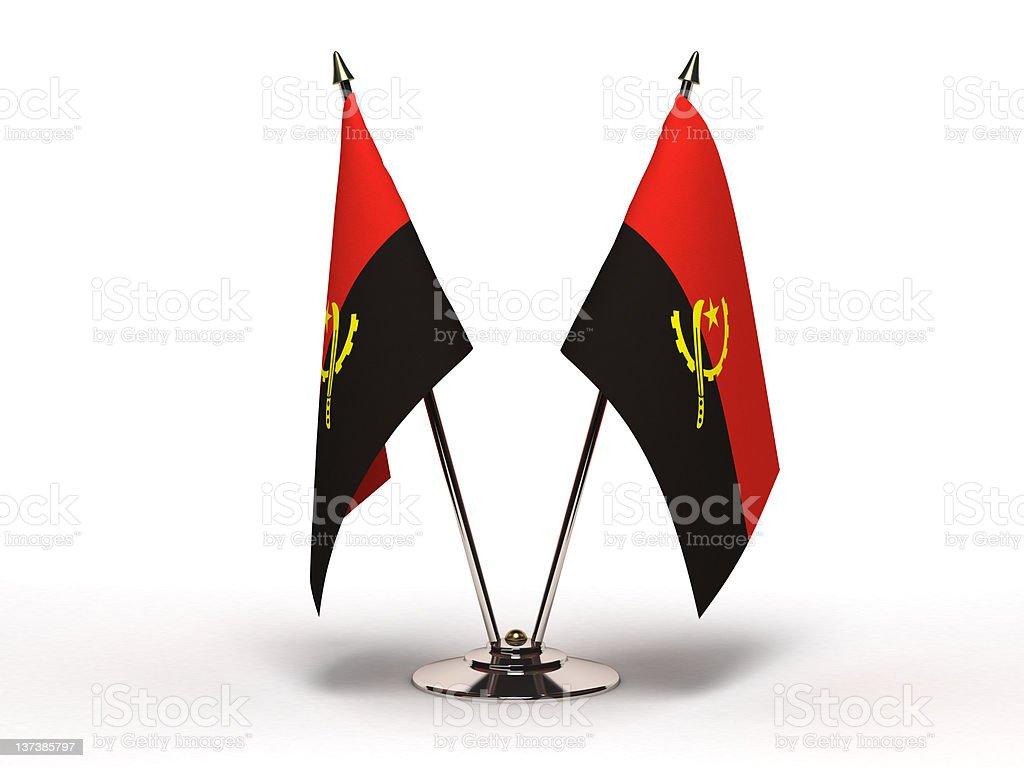 Miniature Flag of Angola (Isolated) stock photo
