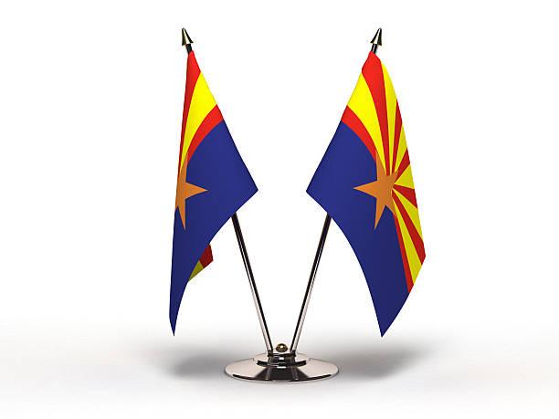 Miniatura bandeira do Arizona (isolado - foto de acervo
