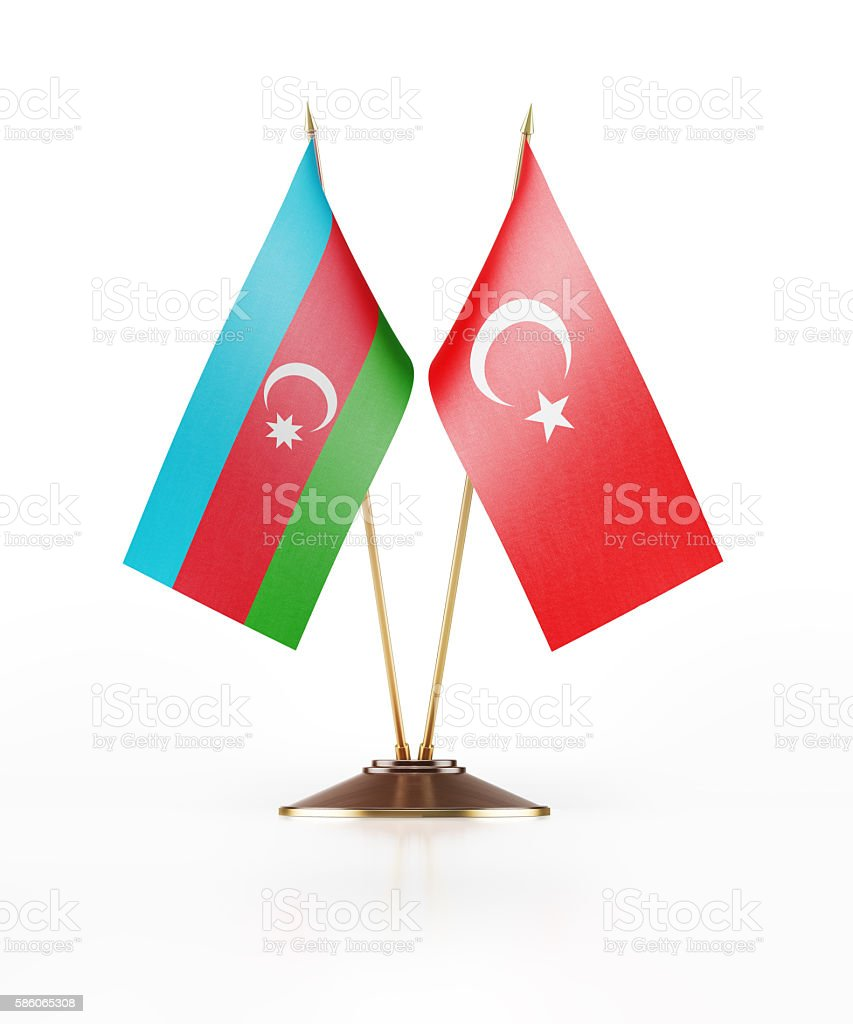 Miniature Flag Of Azerbaijan And Turkey Stockfoto Und Mehr Bilder Von Aserbaidschan Istock