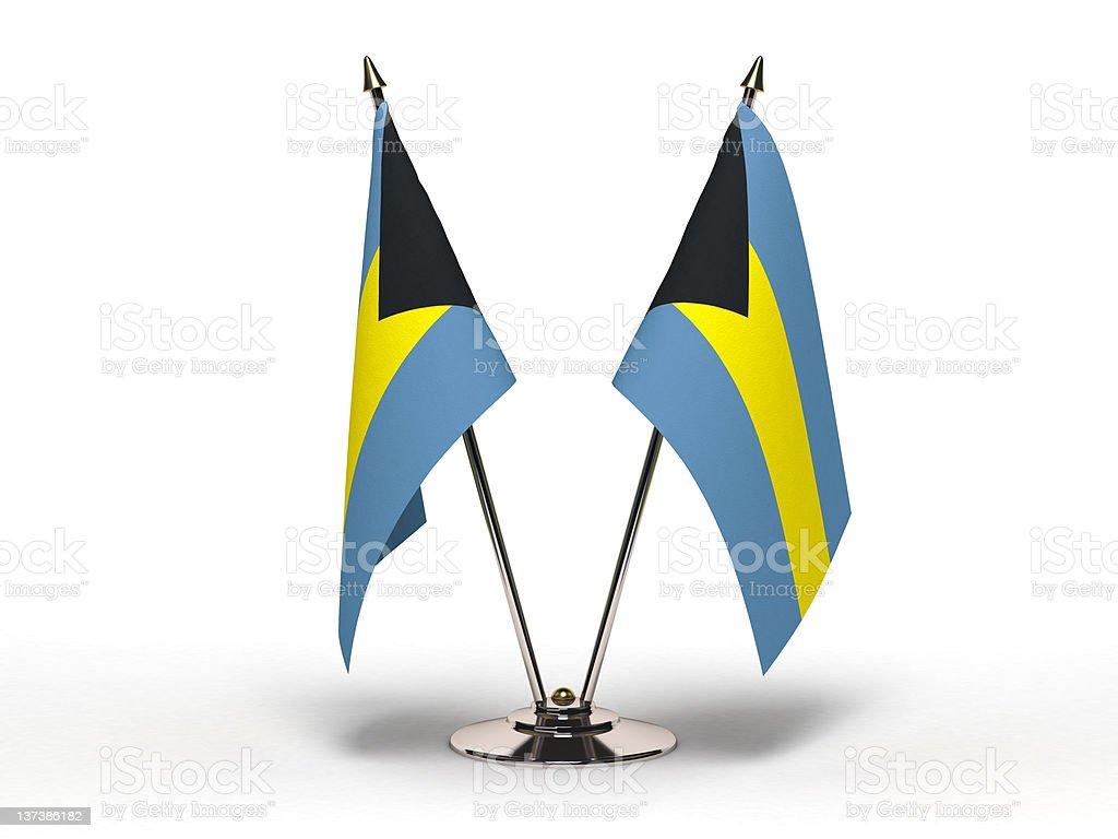 Miniature Flag of Bahamas (Isolated) stock photo