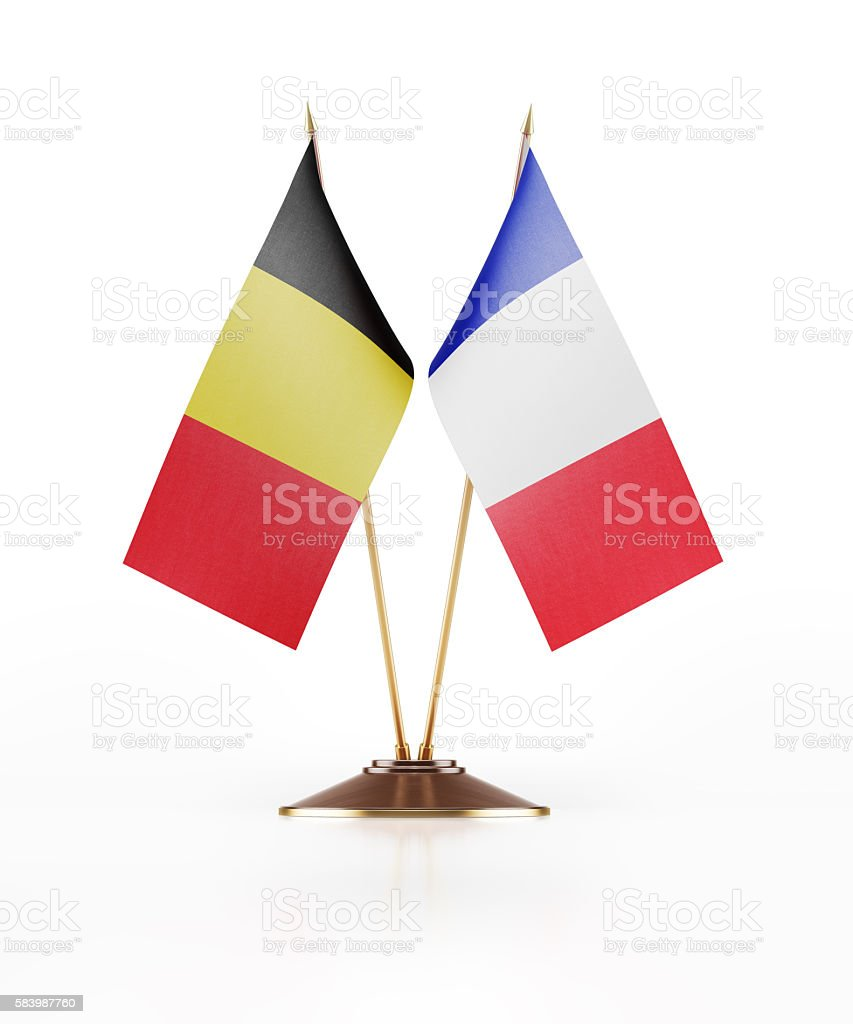 Miniature Flag of Belgium and France foto