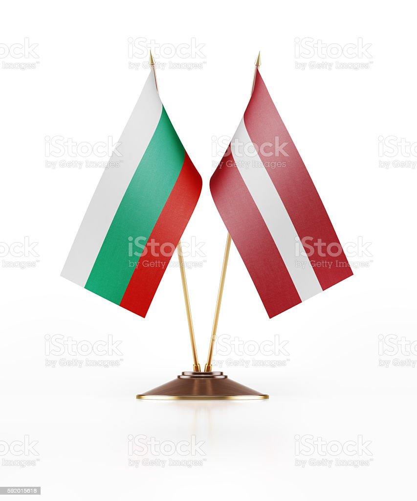 Miniature Flag of Bulgaria and Latvia stock photo