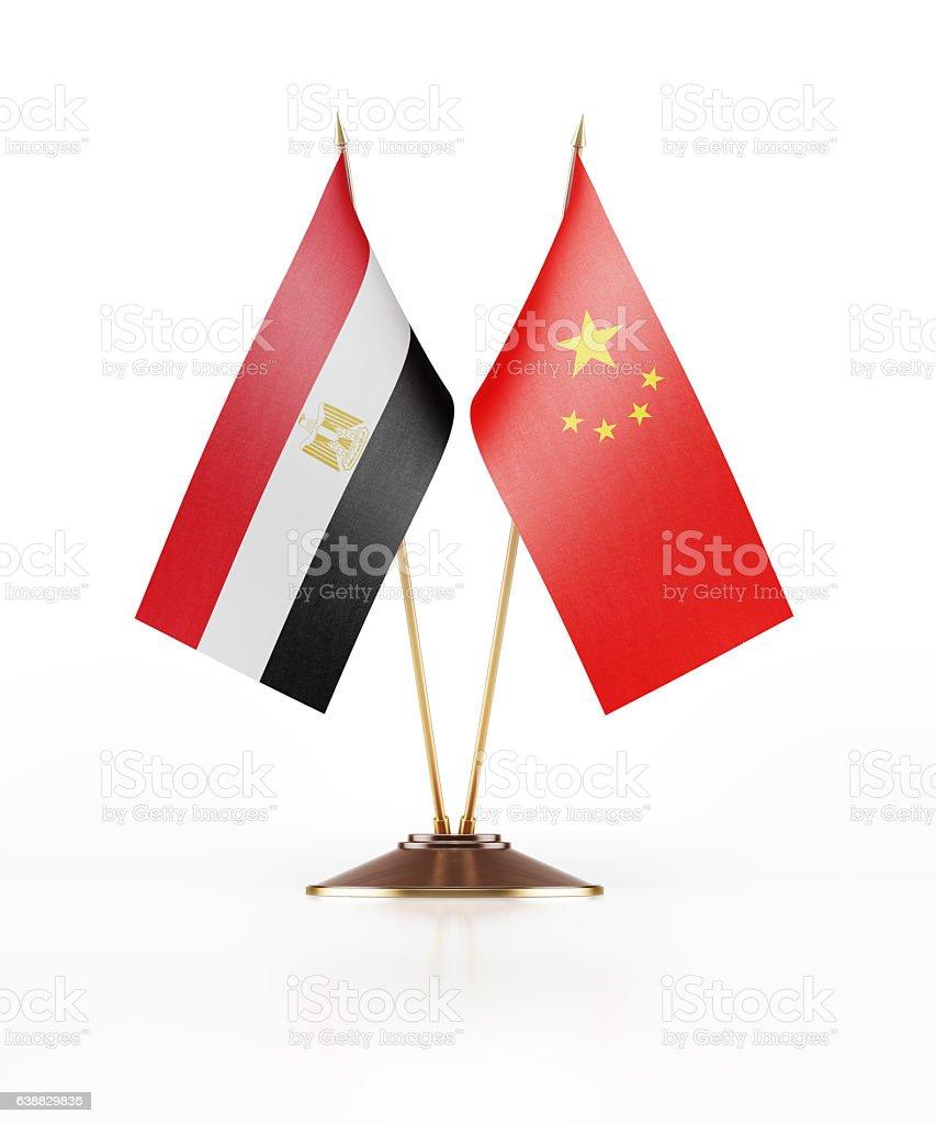 Miniature Flag  of China and Egypt - foto de stock