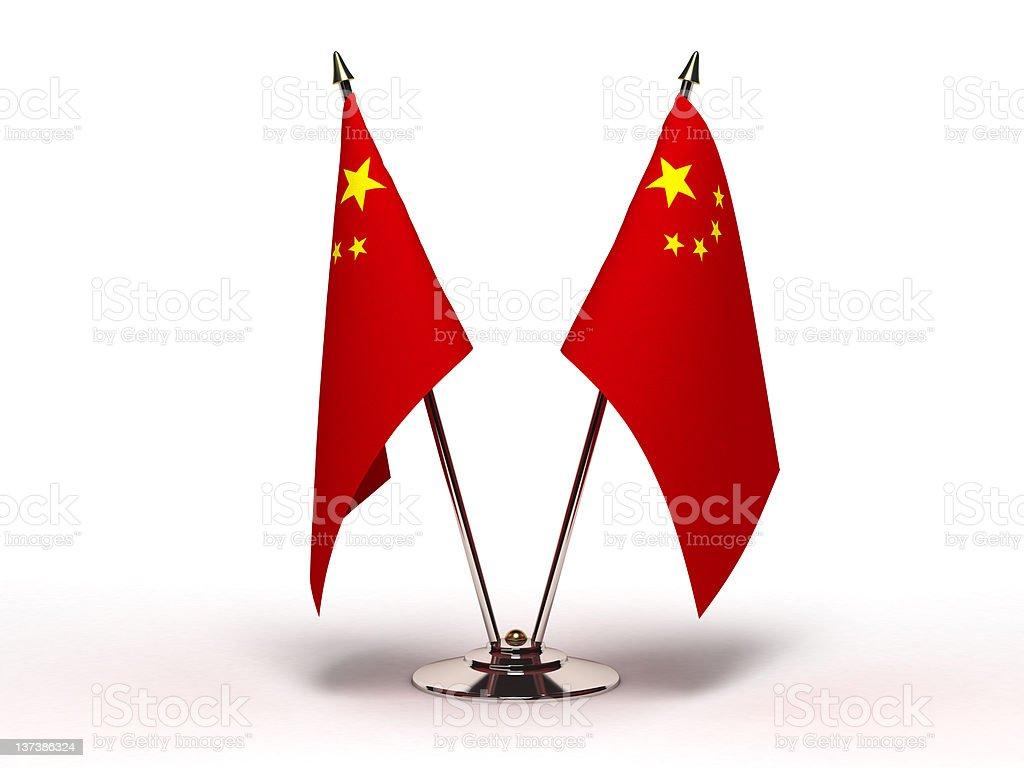 Miniature Flag of China (Isolated) stock photo