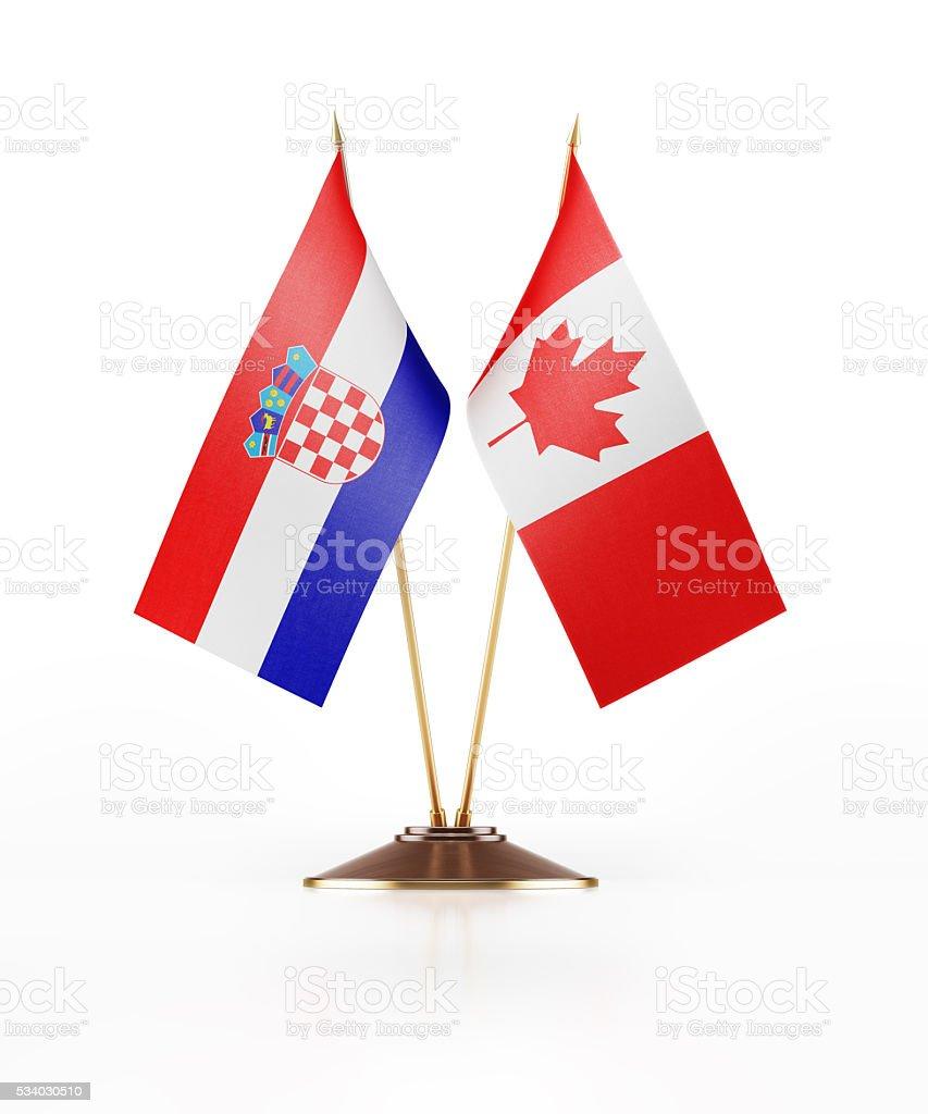 Bandiera in miniatura Croazia e in Canada - foto stock
