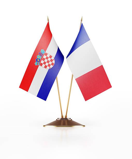 Miniatura bandera de croacia y Francia - foto de stock