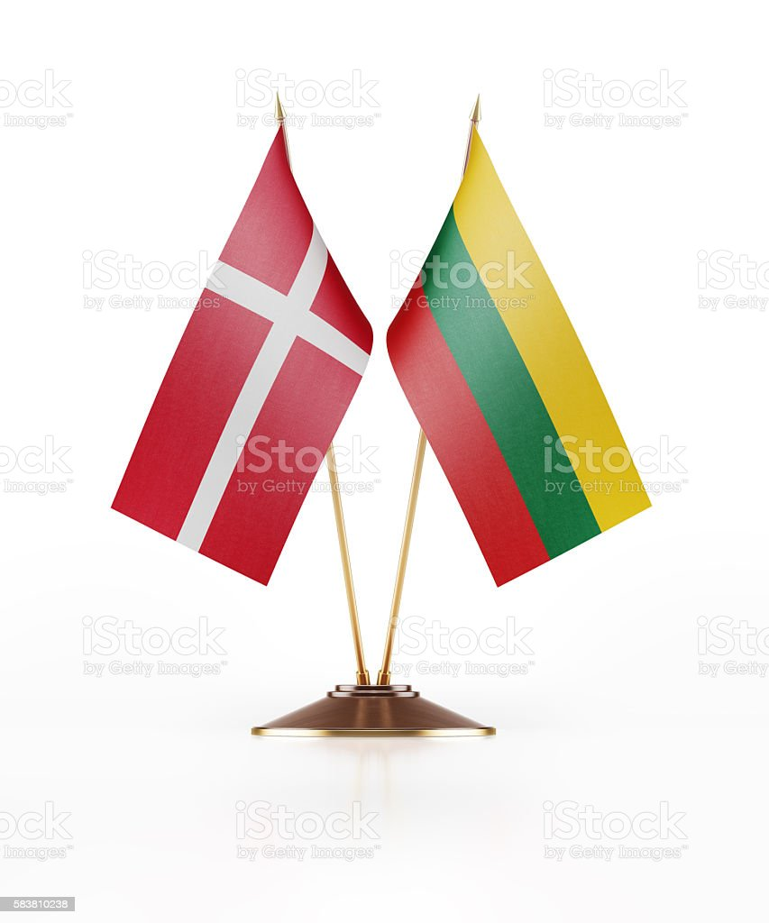 miniature flag of denmark and lithuania stock photo 583810238 istock