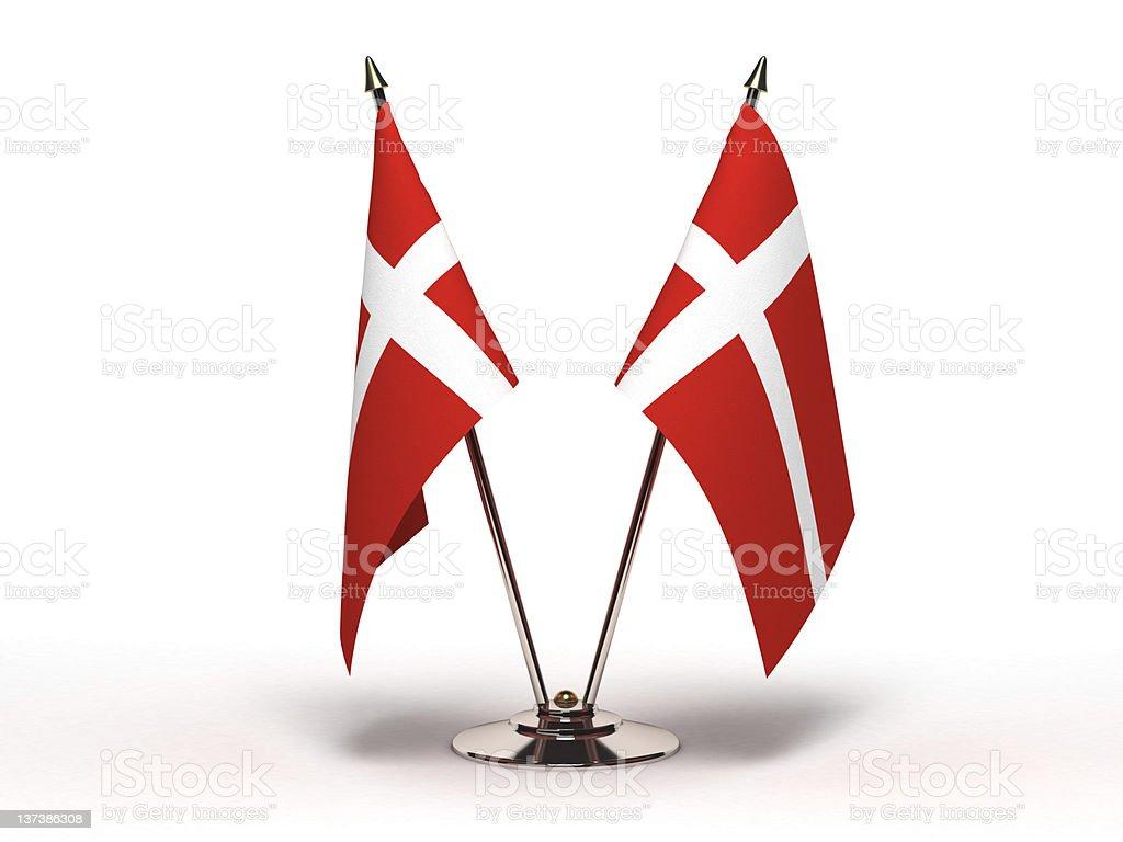Bandera miniatura de Dinamarca (aislado - foto de stock