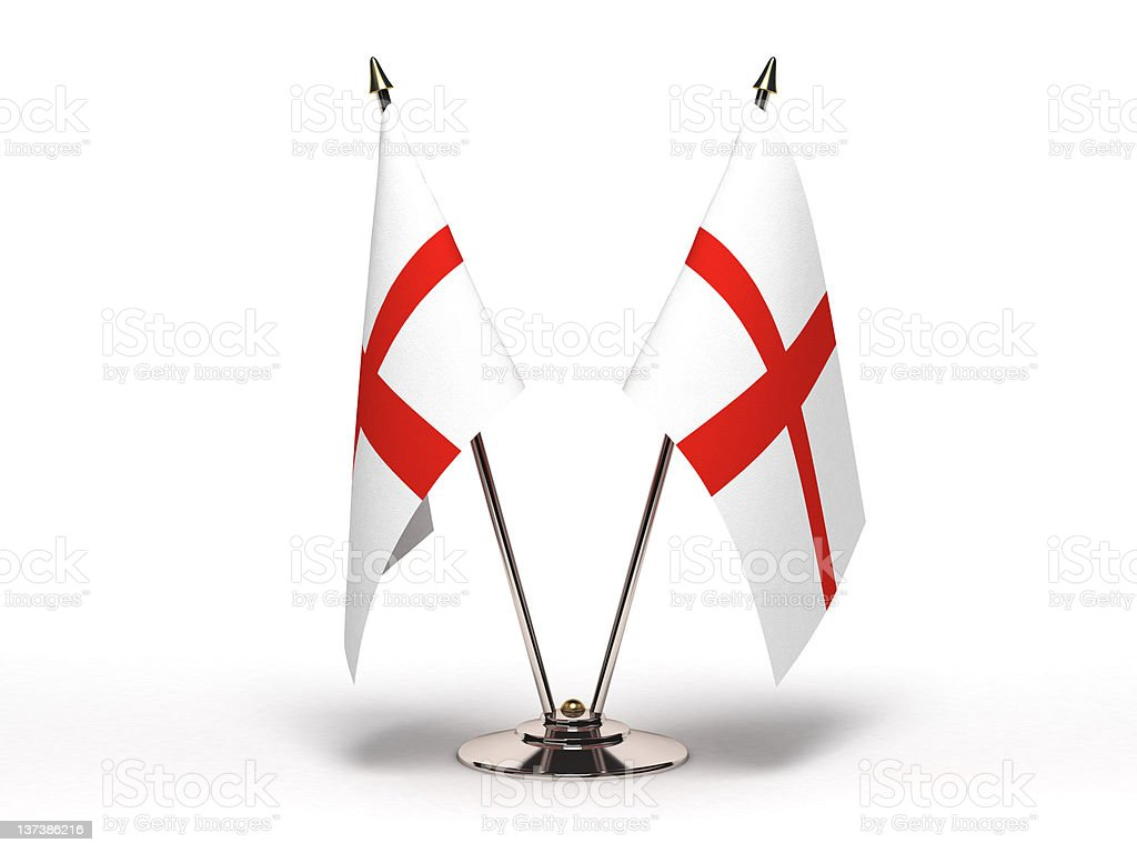 Miniature Flag of England (Isolated) stock photo