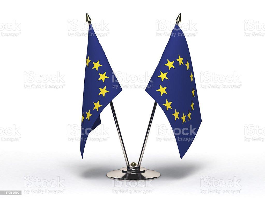 Miniature Flag of European Community (Isolated) royalty-free stock photo