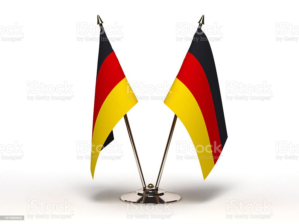 Miniature Flag of Germany (Isolated) stock photo