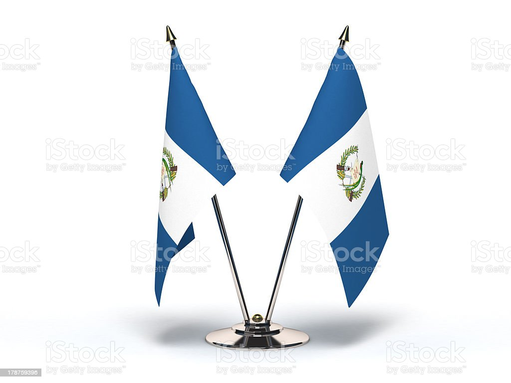 Miniatura bandera de Guatemala - foto de stock