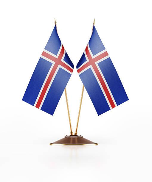 Miniature Flag of Iceland - foto de acervo