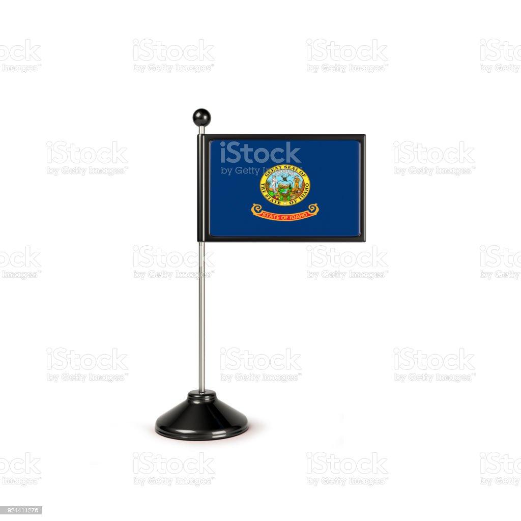 Miniature Flag Of Idaho.Isolated On White Background stock photo