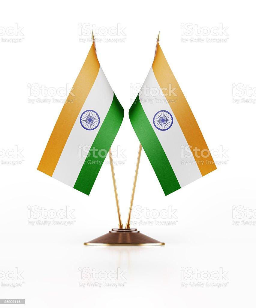 Miniature Flag of India - foto de acervo