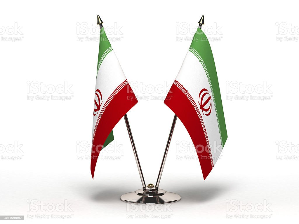 Miniature Flag of Iran (Isolated) stock photo