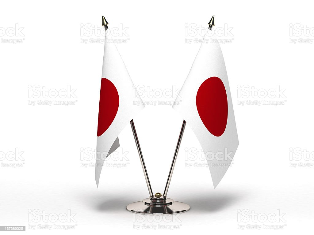 Miniature Flag of Japan (Isolated) royalty-free stock photo