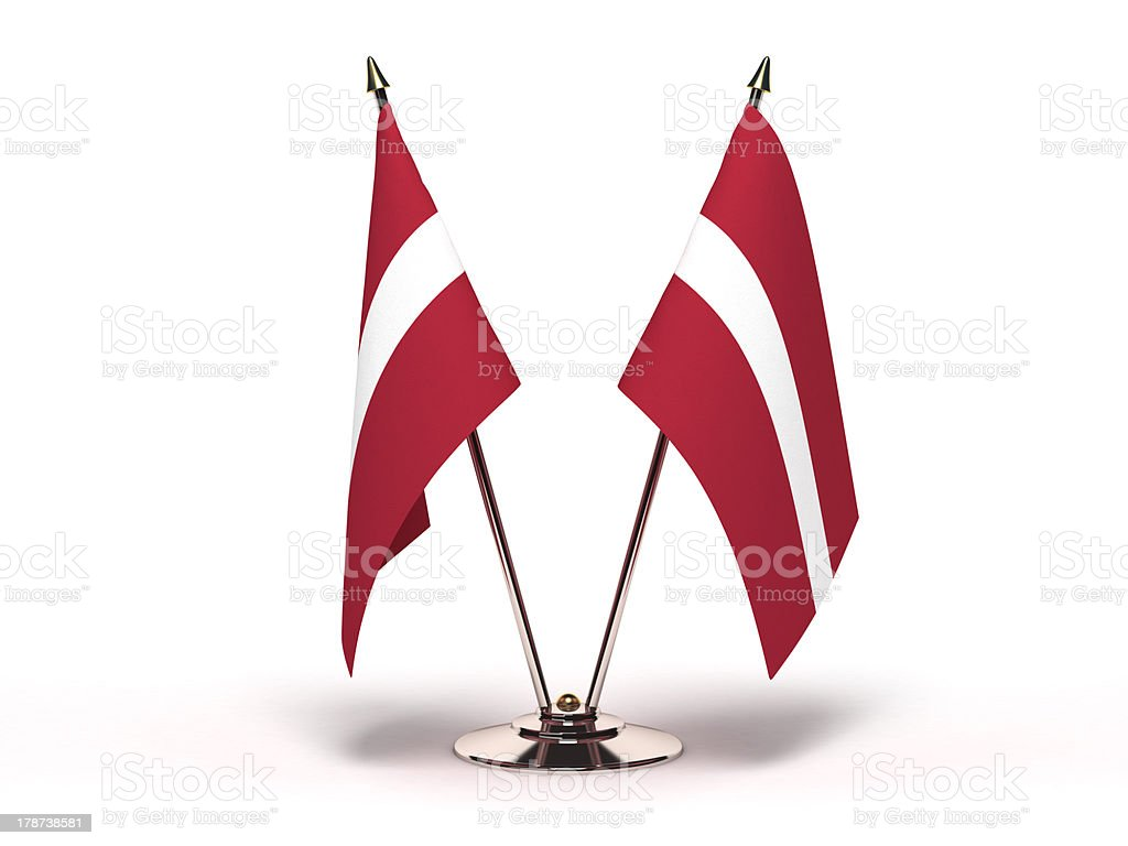 Miniature Flag of Latvia stock photo