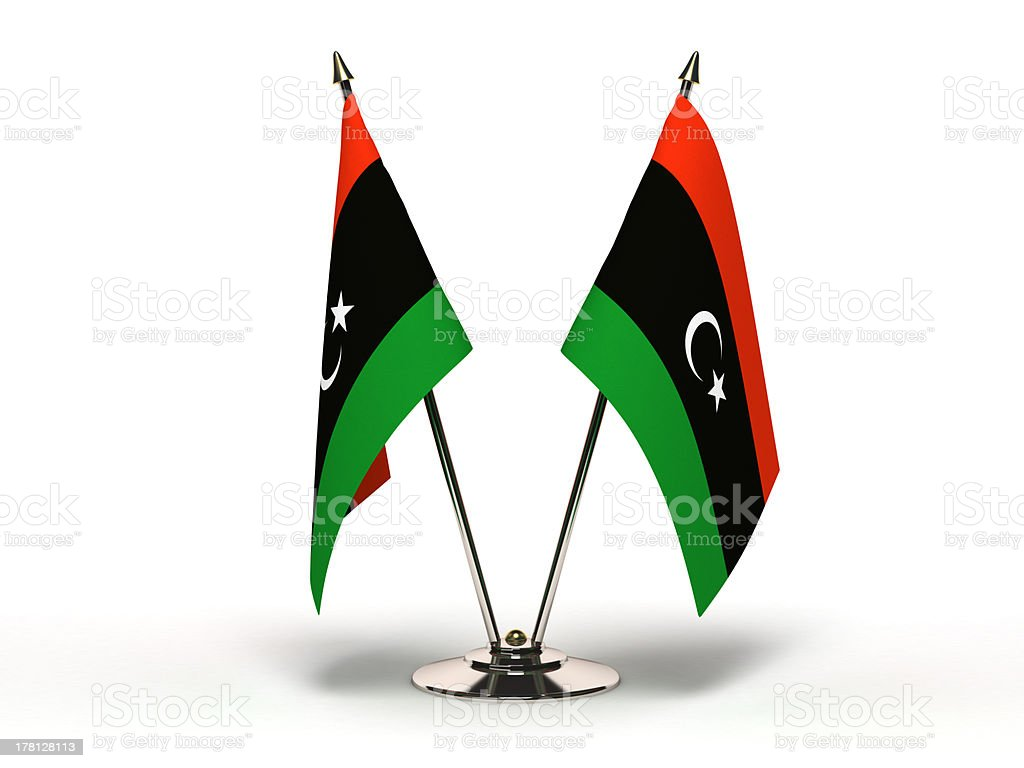 Miniature Flag of Libya royalty-free stock photo