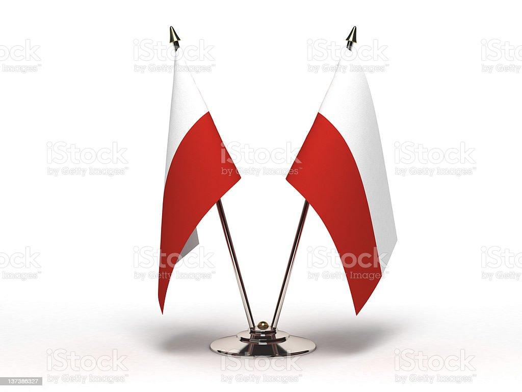 Miniature Flag of Poland (Isolated) royalty-free stock photo