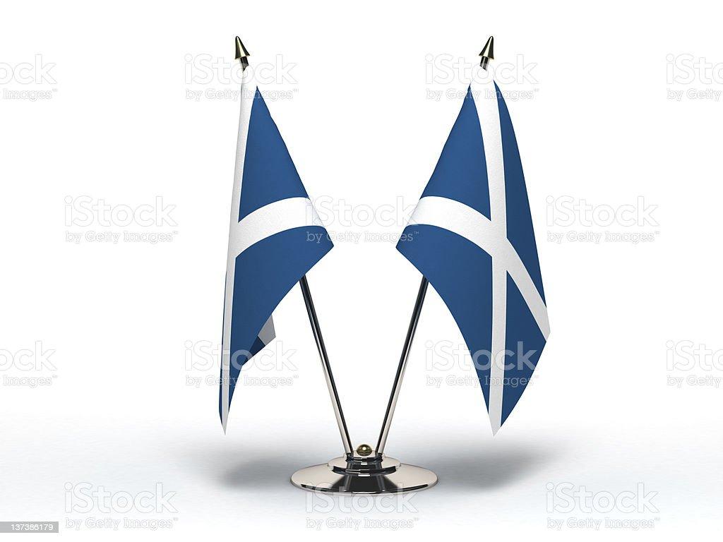 Miniature Flag of Scotland(Isolated) stock photo