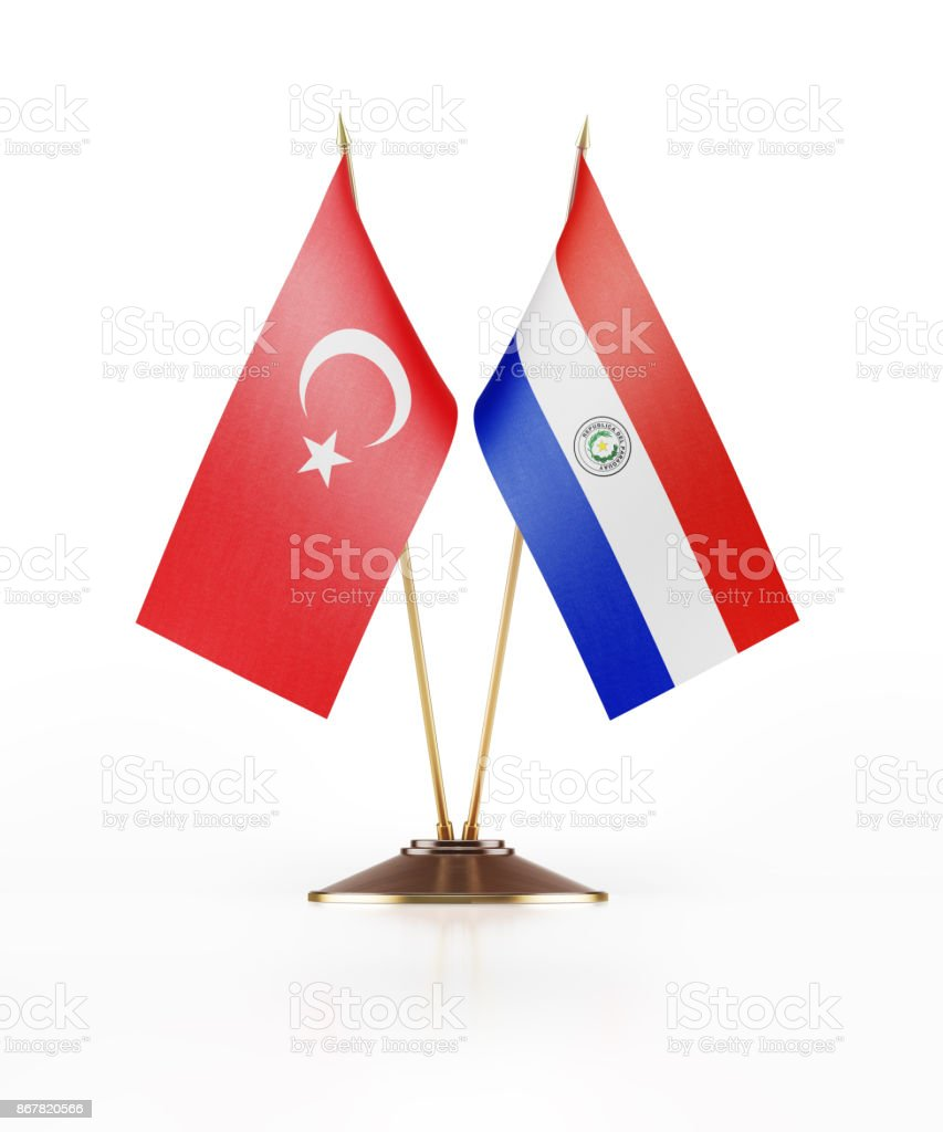 Miniature flag of turkey and paraguay stock photo more pictures desk flag national flag paraguayan flag symbol buycottarizona