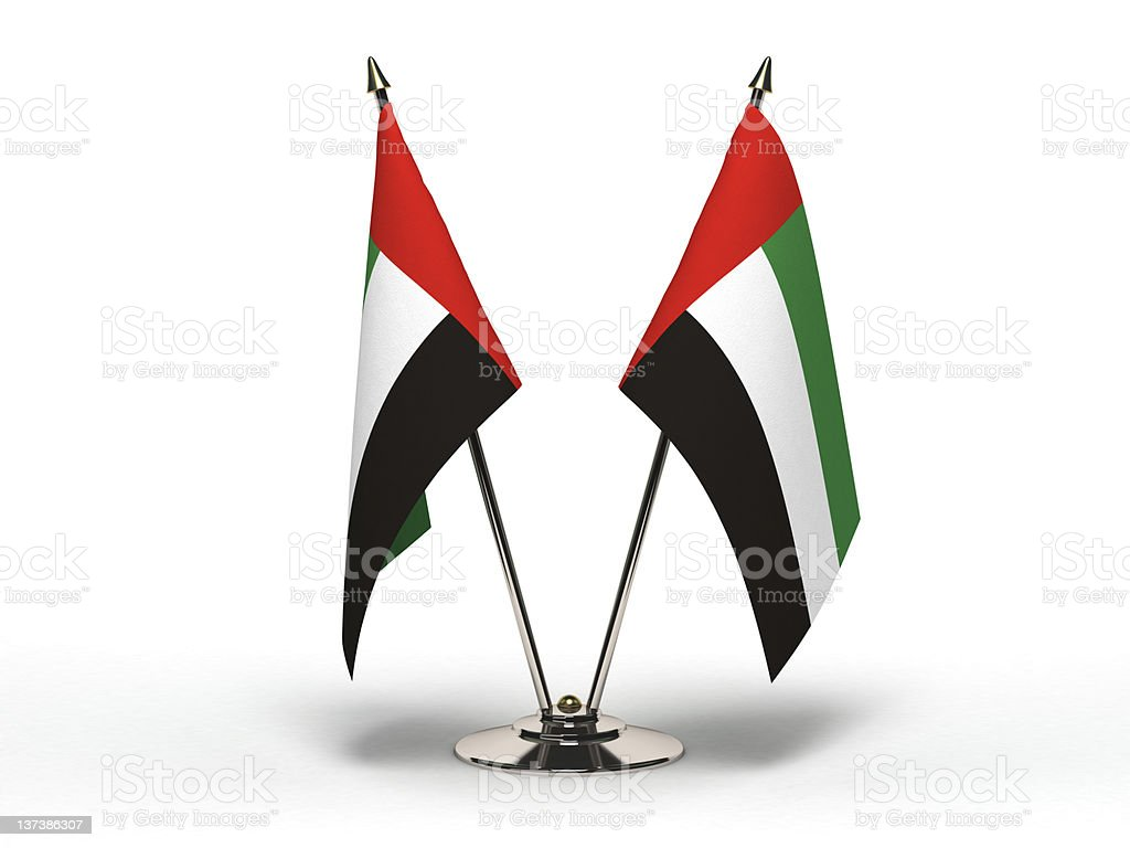 Miniature Flag of United Arab Emirates (Isolated) royalty-free stock photo