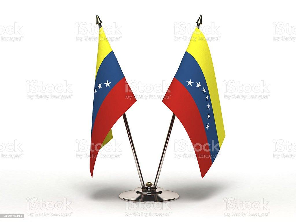 Bandera miniatura de Venezuela (aislado - foto de stock