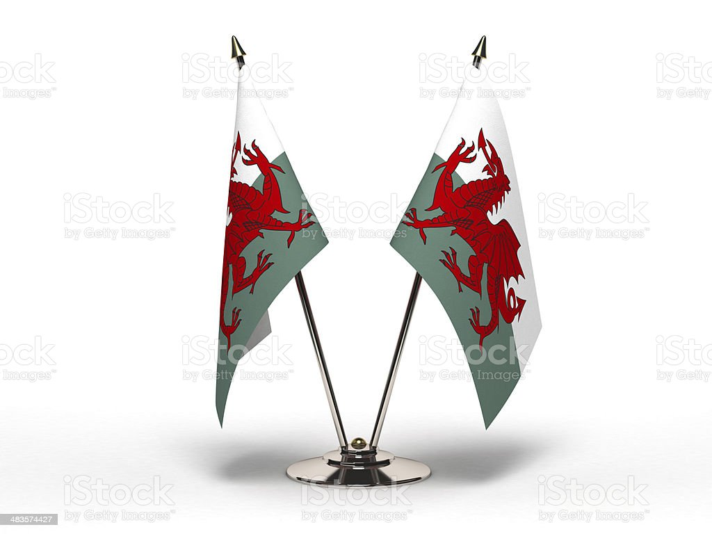 Miniature Flag of Wales (Isolated) royalty-free stock photo