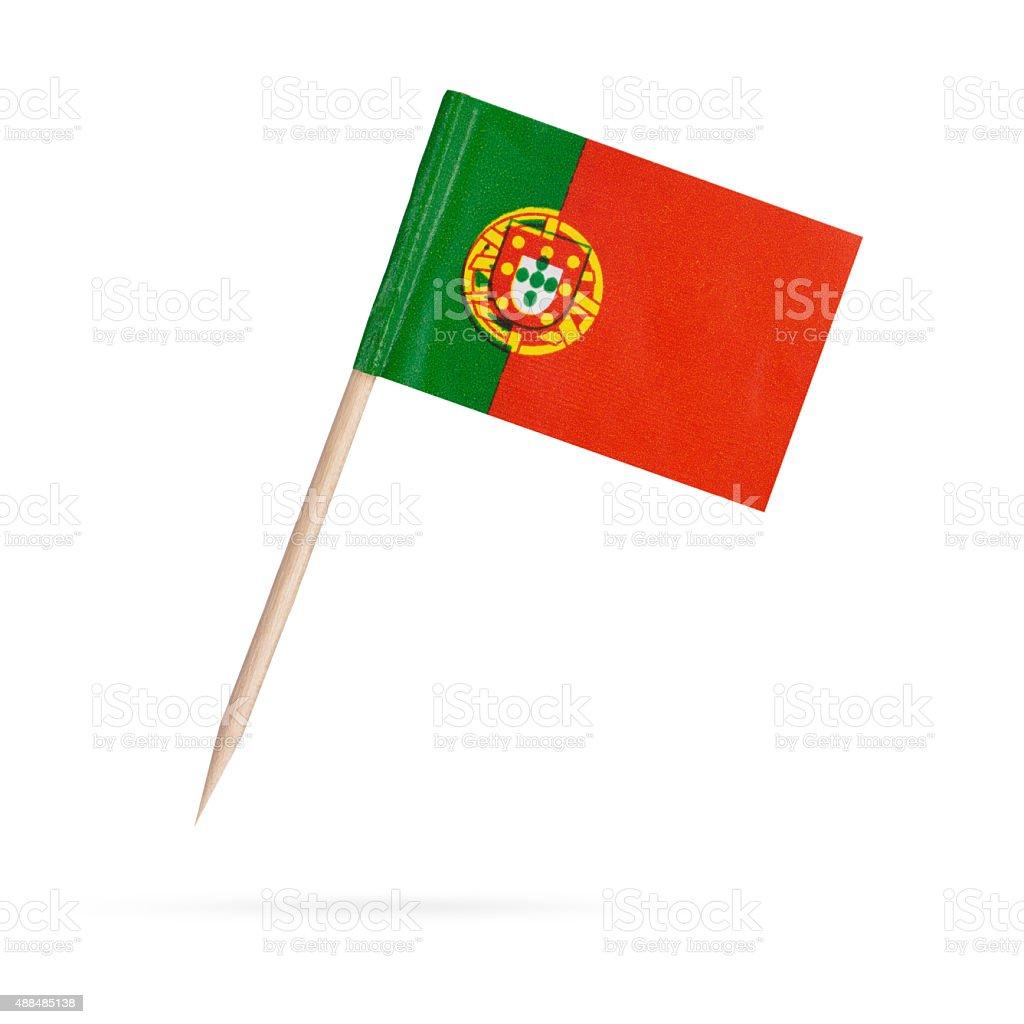 Miniatura Bandeira de Portugal. Isolado no fundo branco - foto de acervo